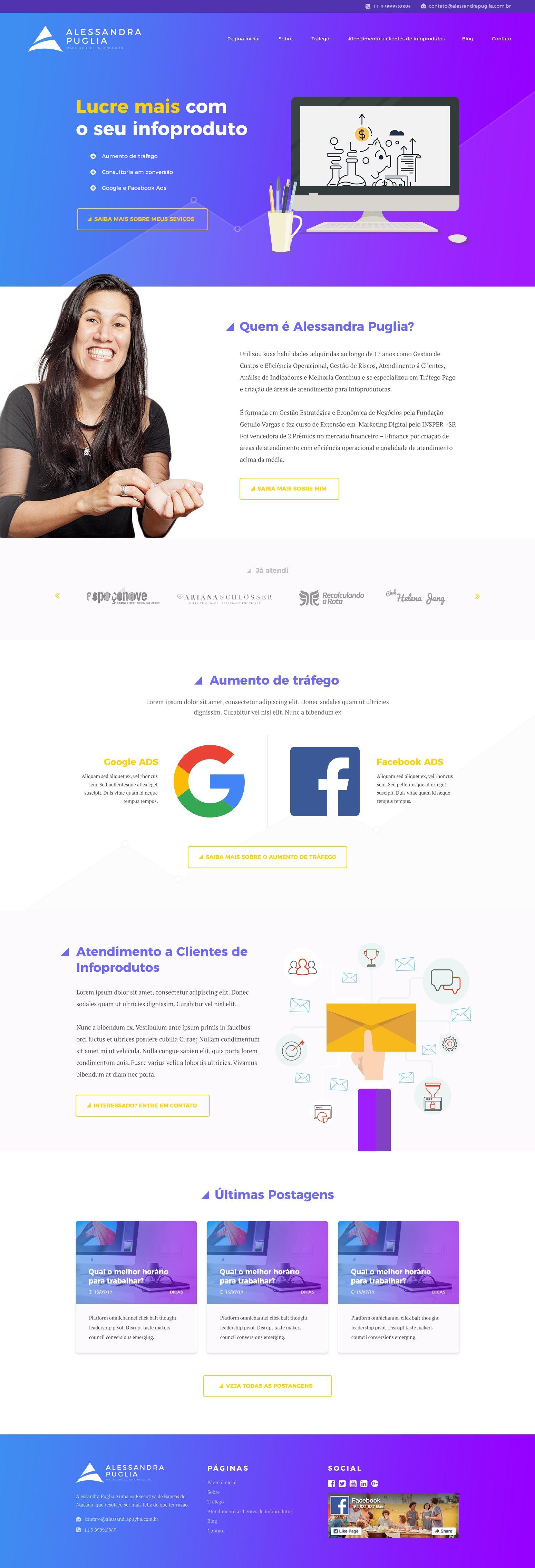 Site Institucional para Alessandra Puglia