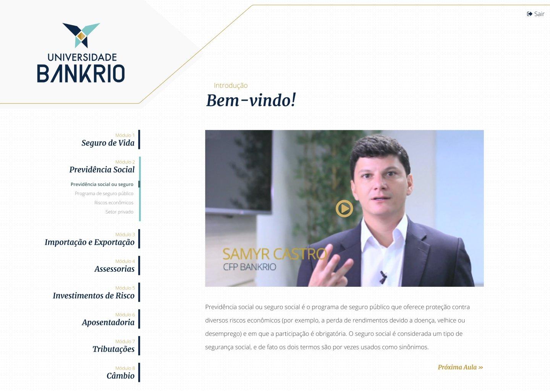 Área de Curso Restrita para BankRio