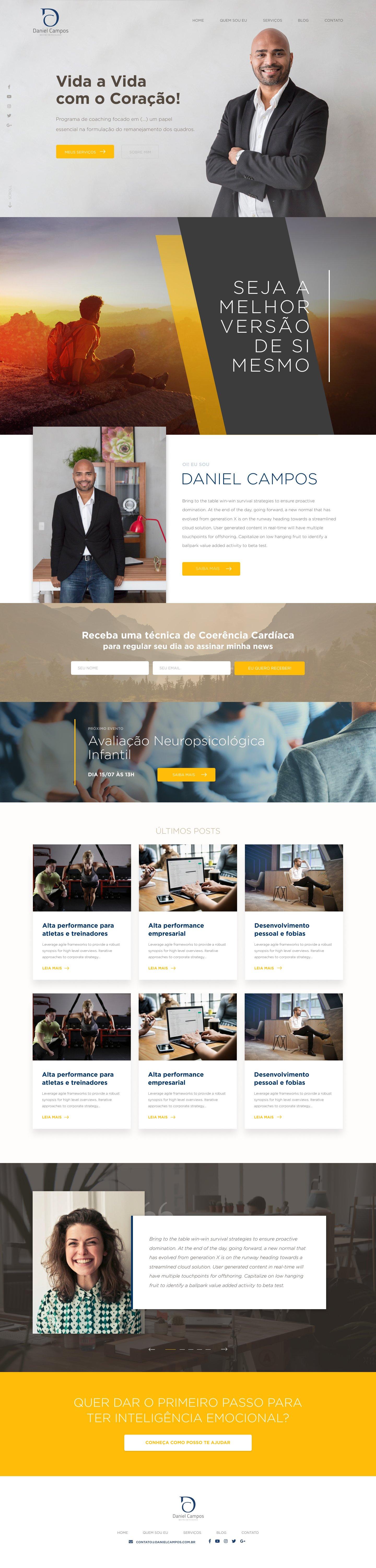Desenvolvimento de site para Daniel Campos
