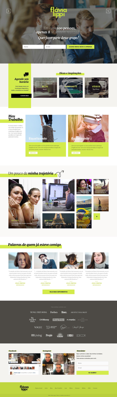 Site pessoal criado para Flávia Lippi