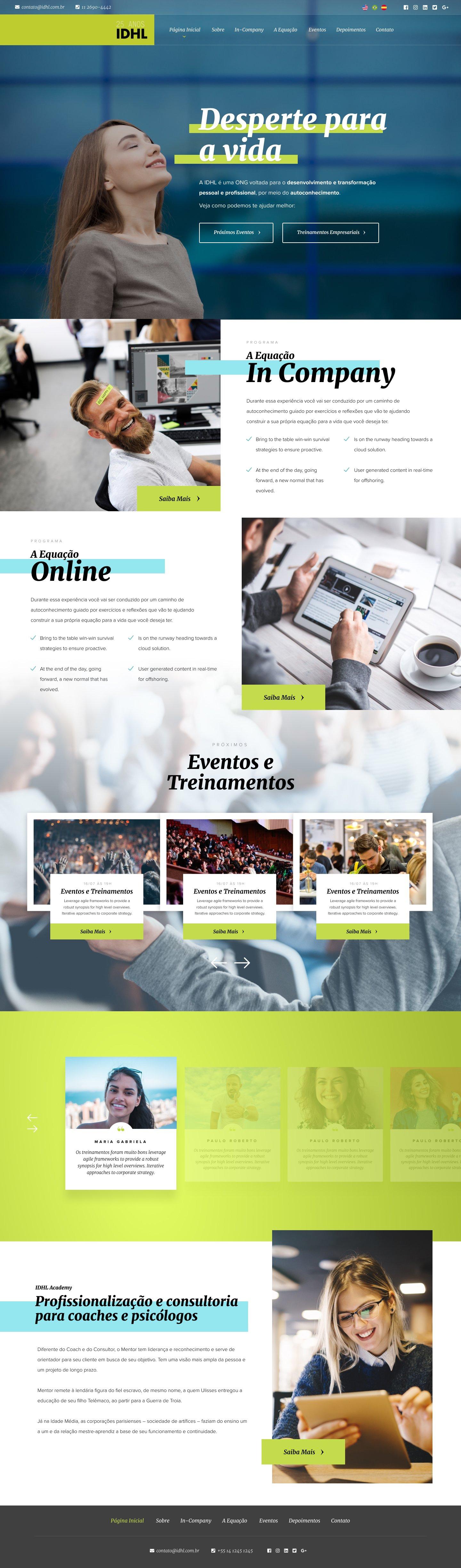 Website Profissional para Instituto IDHL