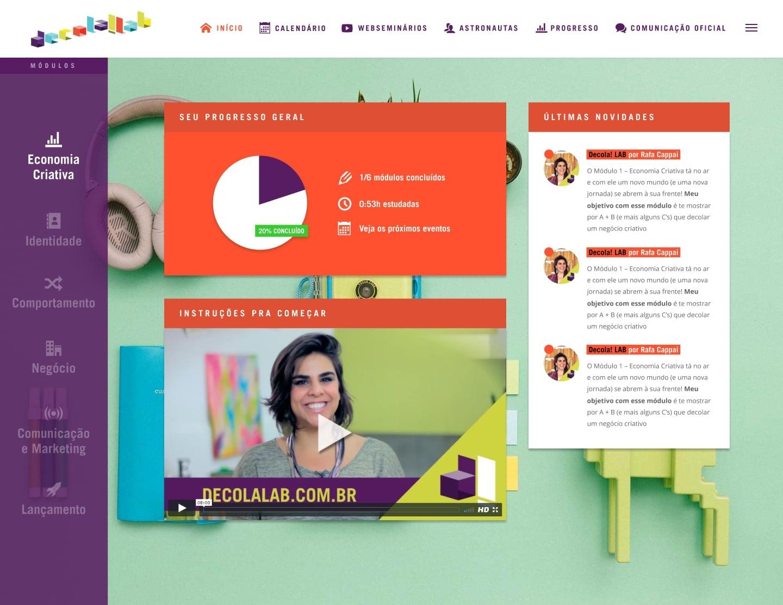 Ambiente de Curso Online para Decola! LAB