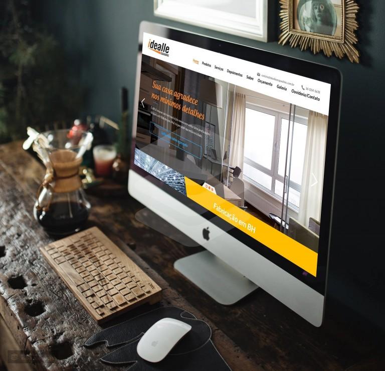 Criação de site para Idealle Esquadrias