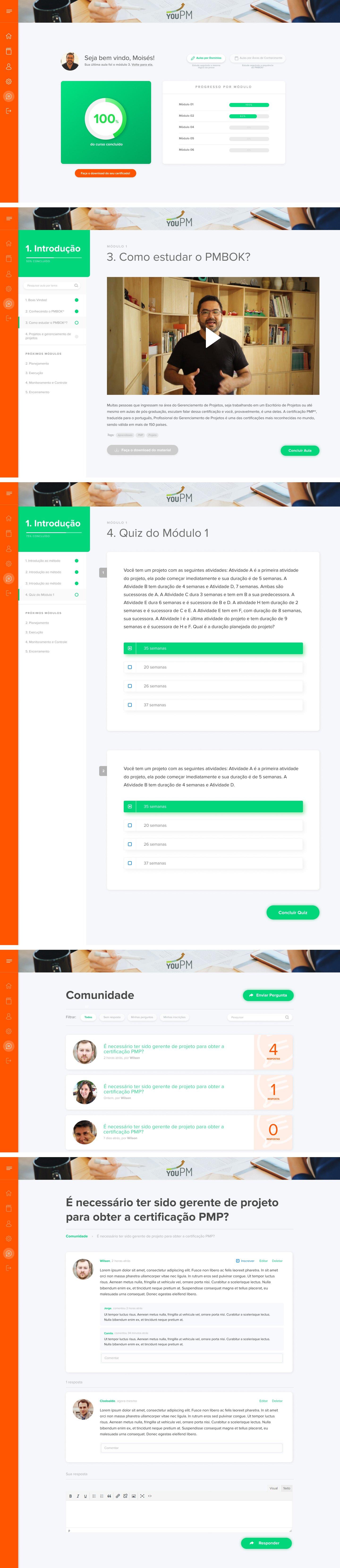 Ambiente de Curso Online para YouPM